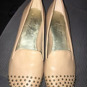 Marc Fisher Spike Tan Flats